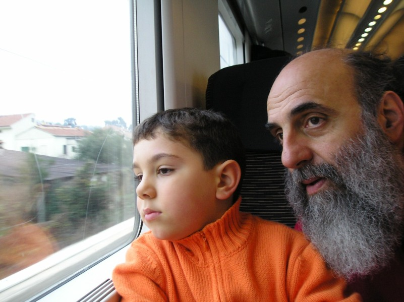 Leonardo and Peppe Consolmagno travelling